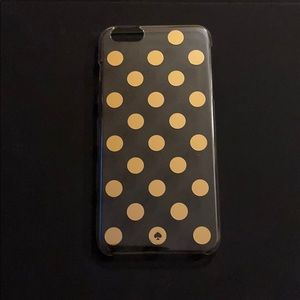 Kate Spade iPhone 6 Plus clear gold dot case